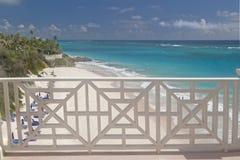 Vista della spiaggia della gru Fotografia Stock Libera da Diritti