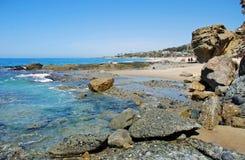 Vista della spiaggia di Aliso, Laguna Beach, California Fotografia Stock Libera da Diritti