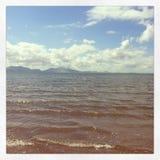 Vista della spiaggia di Anglesey immagini stock