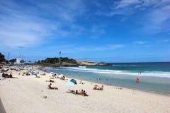 Vista della spiaggia di Arpoador in Rio de Janeiro Fotografia Stock Libera da Diritti