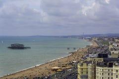 Vista della spiaggia di Brighton Immagini Stock Libere da Diritti