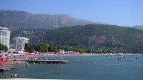 Vista della spiaggia di Budua archivi video