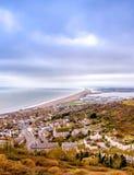 Vista della spiaggia di Chesil Immagini Stock Libere da Diritti