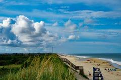 Vista della spiaggia di Corolla fotografia stock libera da diritti