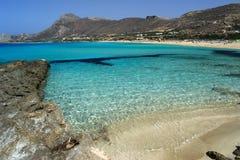 Vista della spiaggia di Falasarna Fotografie Stock