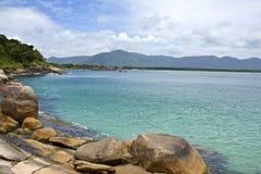 Vista della spiaggia di Florianopolis Immagini Stock