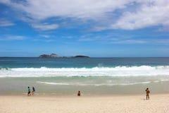 Vista della spiaggia di Ipanema in Rio de Janeiro Fotografie Stock