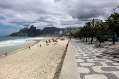 Vista della spiaggia di Ipanema in Rio de Janeiro Fotografie Stock Libere da Diritti