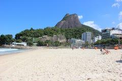 Vista della spiaggia di Leblon Fotografia Stock