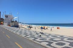 Vista della spiaggia di Leblon Fotografia Stock Libera da Diritti