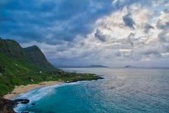Vista della spiaggia di Makapuu, Oahu, Hawai Immagine Stock