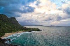 Vista della spiaggia di Makapuu, Oahu, Hawai Fotografie Stock