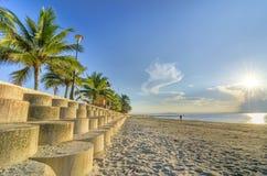 Vista della spiaggia di mattina Fotografie Stock Libere da Diritti