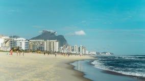 Vista della spiaggia di Rio de Janeiro fotografia stock