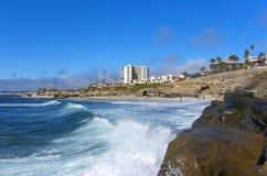 Vista della spiaggia di San Diego fotografie stock libere da diritti