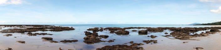 Vista della spiaggia di Thornton Immagine Stock