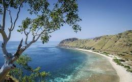 Vista della spiaggia e della costa vicino a Dili nel leste del Timor Est Fotografie Stock Libere da Diritti