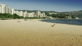 Vista della spiaggia a Niteroi Fotografia Stock