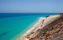 Vista della spiaggia spagnola Playa Barca Fotografia Stock
