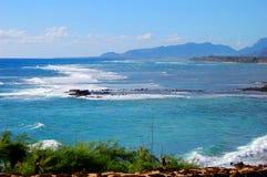Vista della spiaggia su Kauai fotografia stock