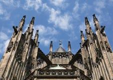 Vista della st Vitus Cathedral nell'area del castello di Praga Immagine Stock
