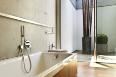 Vista della stanza da bagno fotografia stock