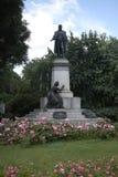 Vista della statua di Cavour immagini stock libere da diritti