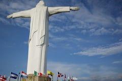 Vista della statua di Cristo Rey di Cali Fotografie Stock Libere da Diritti