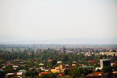 Vista della stazione ferroviaria della città di Krasnodar giù fotografia stock