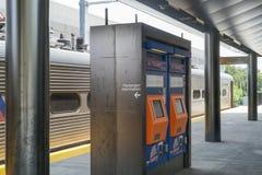 Vista della stazione ferroviaria di Princeton fotografia stock