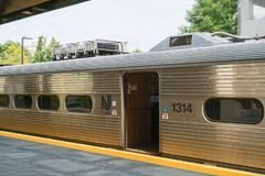 Vista della stazione ferroviaria di Princeton immagini stock libere da diritti