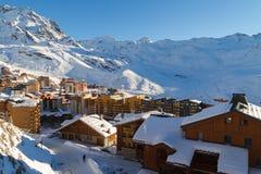 Vista della stazione sciistica di tre valli, Francia di Val Thorens Immagini Stock Libere da Diritti