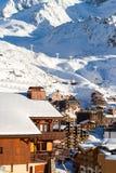 Vista della stazione sciistica di tre valli, Francia di Val Thorens Fotografia Stock Libera da Diritti