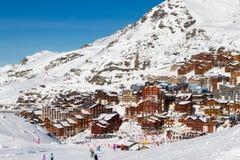 Vista della stazione sciistica di tre valli, Francia di Val Thorens Immagine Stock