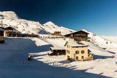 Vista della stazione sciistica Jungfrau Wengen in Svizzera Fotografia Stock Libera da Diritti