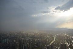 Vista della stazione televisiva di Pechino fotografia stock libera da diritti