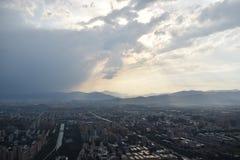 Vista della stazione televisiva di Pechino immagini stock libere da diritti