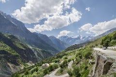 Vista della strada della montagna Immagine Stock
