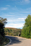 Vista della strada della sommità della California fotografia stock