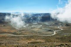 Vista della strada di bobina conosciuta come Cuesta de Lipan Fotografie Stock