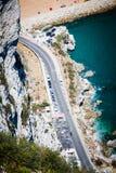 Vista della strada di Europa, dalla roccia di Gibilterra fotografia stock libera da diritti