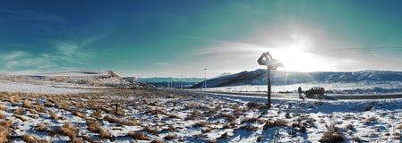 Vista della strada Jili-Unione Sovietica fotografie stock