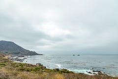Vista della strada principale della costa del Pacifico Immagine Stock