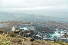 Vista della strada principale della costa del Pacifico Fotografia Stock