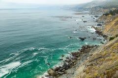 Vista della strada principale della costa del Pacifico Fotografie Stock