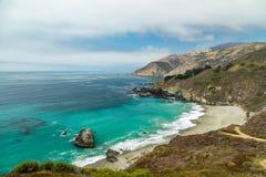 Vista della strada principale della costa del Pacifico Immagine Stock Libera da Diritti