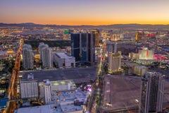 Vista della striscia a Las Vegas Fotografie Stock