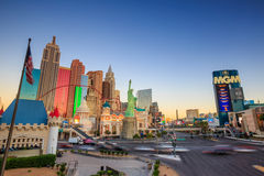 Vista della striscia a Las Vegas Immagini Stock