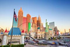 Vista della striscia a Las Vegas Immagini Stock Libere da Diritti