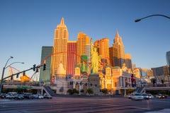 Vista della striscia a Las Vegas Fotografia Stock
